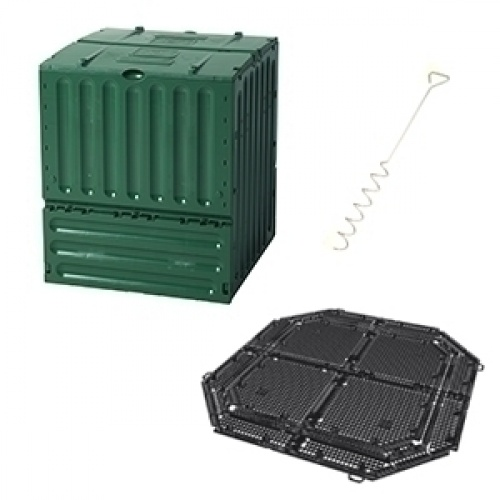 Kit compostaje Eco King 400L con base y aireador  / Ref : G300000803